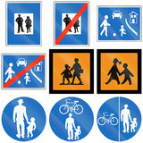 Person And Children Signs en Autriche Photographie stock libre de droits