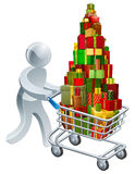 Person christmas gift shopping Royalty Free Stock Photography