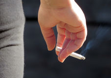 Person with Cigarette Royalty Free Stock Images