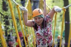 Person climbing rope Stock Photos