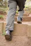 Person climbing steps Royalty Free Stock Images
