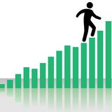 Person Climbs Profit Chart Graph Stairs Royalty Free Stock Photos