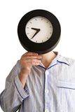The person - clock Royalty Free Stock Images