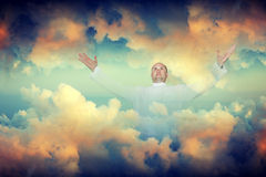 The person in clouds Stock Photos