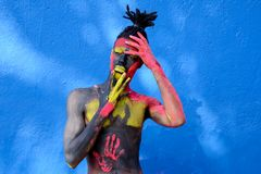 Person With Colorful Body Paint Royalty Free Stock Photography