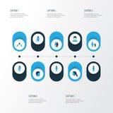 Person Colorful Icons Set Collection de vieux, de contact, d'humain et d'autres éléments Inclut également des symboles tel le con Photographie stock libre de droits