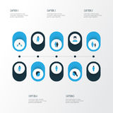 Person Colorful Icons Set. Collection Of Old, Contact, Human And Other Elements. Also Includes Symbols Such As Contact royalty free illustration