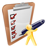 Person completing survey Stock Images