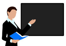 Person conducting the presentation Royalty Free Stock Images