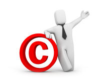 Person and copyright sign Stock Images