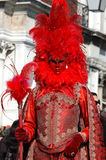 Person in costume at St. Mark's Square,carnival Stock Photos