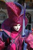 Person in costume at Venice carnival 2011 Stock Photo