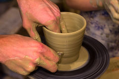 Person Creation Pottery Imagens de Stock Royalty Free