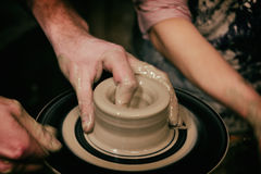 Person Creation Pottery Fotografie Stock Libere da Diritti