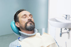Person in dentist office. Royalty Free Stock Image