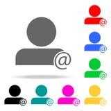 Person in der Korrespondenzikone Elemente von multi farbigen Ikonen der Teamwork Erstklassige Qualitätsgrafikdesignikone Einfache lizenzfreie abbildung