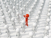 Person different from the crowd Stock Photos