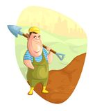 Person digging ground Royalty Free Stock Images