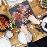 Person Dining Gourmet Meal Concept Imágenes de archivo libres de regalías