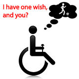 Person with disabilities. Illustration wish people with disabilities as a message vector illustration