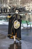 Person Disguised as a Painter - Annecy Venetian Carnival 2013 Royalty Free Stock Images