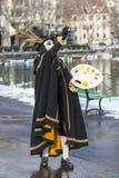 Person Disguised en tant que peintre - carnaval vénitien 2013 d'Annecy Images stock