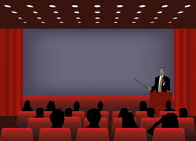 A person doing a presentation Stock Images