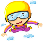 Person doing sky diving alone Stock Images