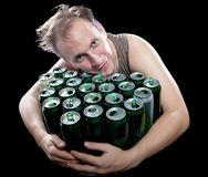 The person dreams of beer Royalty Free Stock Images
