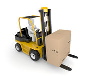 Person drive a Forklift Royalty Free Stock Photography