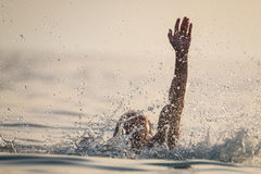 Person drowns in the water Royalty Free Stock Photography