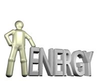Person with energy Royalty Free Stock Image