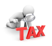 Person examines taxes Royalty Free Stock Images