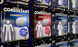 Person för överkant för konsulentChoose Best Expert hyra för jobbet 3d Illustr Royaltyfria Bilder