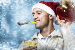 person för julgåvadeltagare Royaltyfri Foto