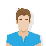 Person för manlig stående för avatar för profilsymbol tillfällig vektor illustrationer