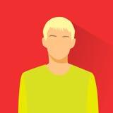Person för manlig stående för avatar för profilsymbol tillfällig Royaltyfri Fotografi