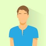 Person för manlig stående för avatar för profilsymbol tillfällig royaltyfri illustrationer