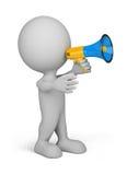 person för megafon 3d Royaltyfri Fotografi