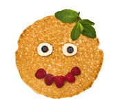 The person, face pancake Stock Images