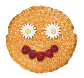 The person, face pancake Royalty Free Stock Photography