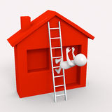Person falling off ladder accident Royalty Free Stock Photography