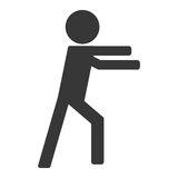 Person on fight icon avatar boxing. Isolated illustration royalty free illustration