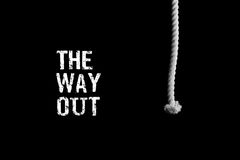 A person finds a way out of a difficult situation. Assistance pr Royalty Free Stock Image