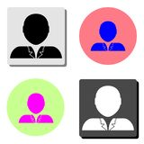 Person. flat vector icon. Person. simple flat vector icon illustration on four different color backgrounds vector illustration
