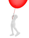 Person flying a balloon stock images