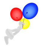 Person flying a balloons Stock Photo