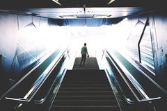 Person in Front Stairs during Daytime Stock Images