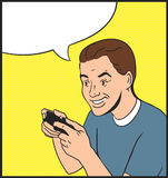 Person Gamer Stockbild