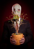 Person in a gas mask Royalty Free Stock Image